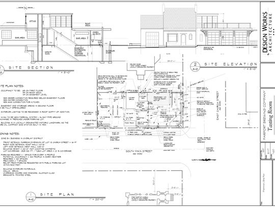 This site plan for the expansion of the Fairport Brewing