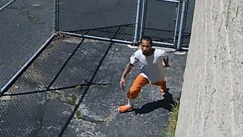 Jordan Chapman, seen escaping from the Sandusky County Jail in a screen shot from security video, pleaded guilty to escape, tampering with evidence and receiving stolen property charges and was sentenced to five years in prison.