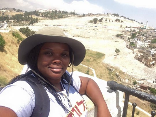 Briana McHam during her study abroad trip to Jerusalem.