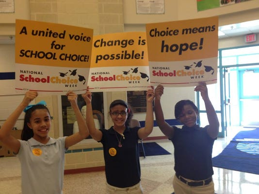 Lincoln Charter School held a rally to celebrate National School Choice Week. (Submitted photo)