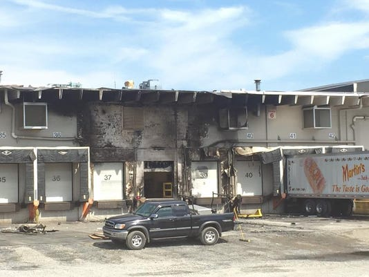 A tractor-trailer caught fire Saturday morning at Martin's Famous Pastry Shoppe in Chambersburg, 911 confirmed.