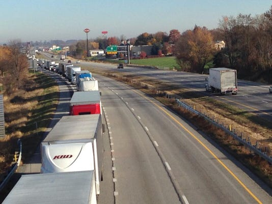 Traffic is currently backed up southbound on Interstate 81.