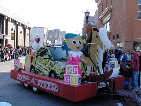 The annual Christmas parade kicks off at 2 p.m. Saturday and starts at South Avenue on Elm. The parade lasts about an hour and a half.