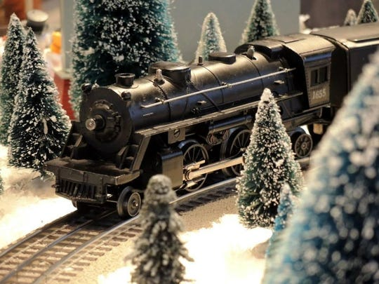 There are several locations you can check out a holiday train display.