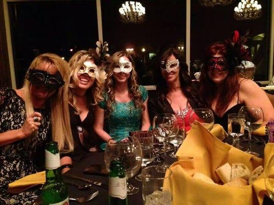 Masks at masquerade ball 2014