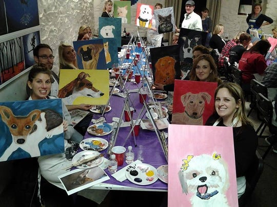 A previous painting party benefiting The Buster Foundation