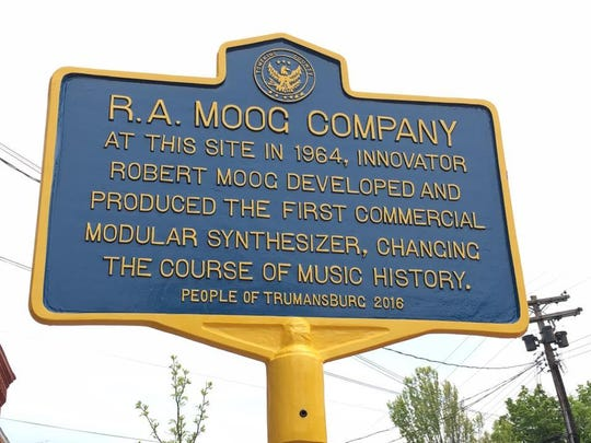 Trumansburg honored electronic music pioneer Robert Moog at MoogDay activities on Sunday afternoon, including the unveiling of a new historic plaque.
