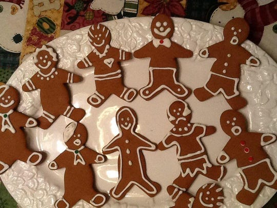 We like our Gingerbread Men dapper. We add French berets, scarves and sometimes bowties.