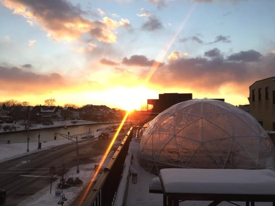 At Asbury Festhalle & Biergarten in Asbury Park, take in the sunset and enjoy a drink in a rooftop igloo.