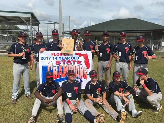 The Tallahassee-Leon Babe Ruth 14U team won a state