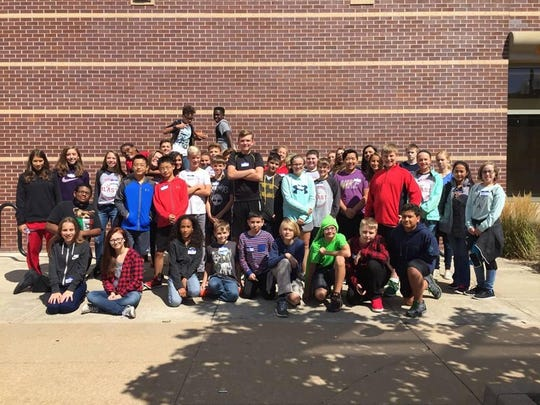 The 35 new students at Shattuck Middle School participated