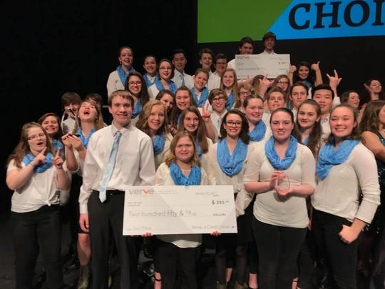 The St. Mary Catholic High School choirs, under the direction of Spencer Jones, took second place at the Clash of the Choirs in January. Thirty singers sang three different songs and took first place in the Sacred Category. This is the second year that SMCHS hosted the event. Other participants included Kiel High School and Reedsville High School.