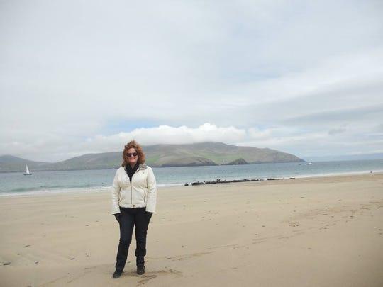 Kathleen Maloney in the Blasket Islands, County Kerry.