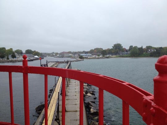 The view looking back at Algoma from the Pierhead light.