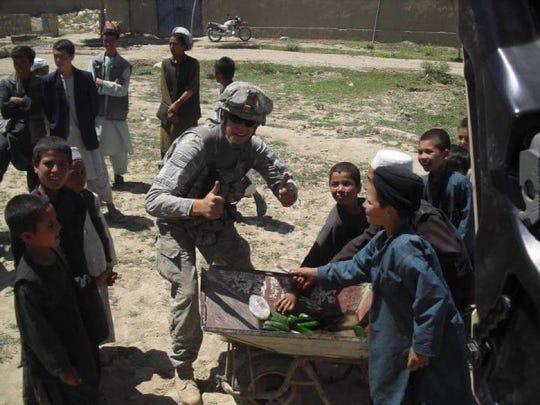 Justin Leasure in Afghanistan.