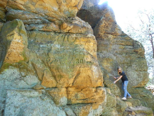 Rock formation at Wildcat Mount.