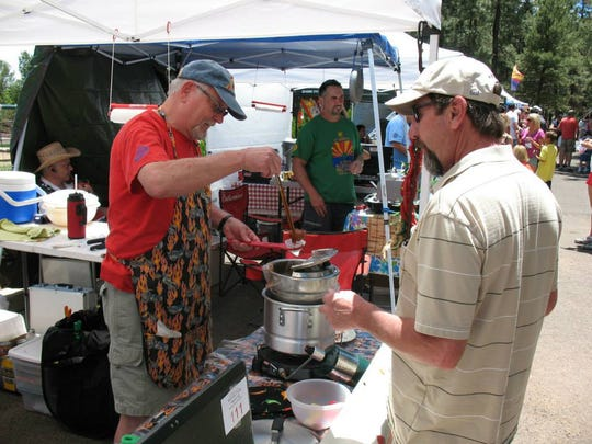 Visitors can sample participant entries in the annual