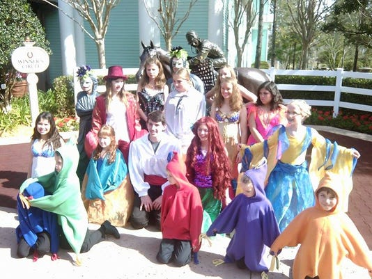 The Little Mermaid JR cast after performance.jpg