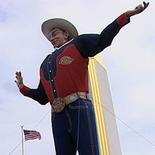Big Tex on his 60th birthday at the State Fair of Texas.