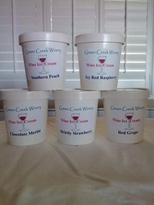 Green Creek Winery in Columbus, North Carolina makes ice cream with wine.