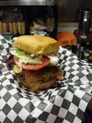 A bacon cheeseburger from Soda's in Cape Coral.
