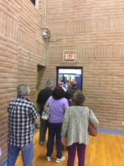 Early voters at Pavo Real Recreation Center had to