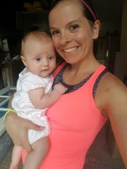 Laura Anderson and her five-month-old daughter Hannah