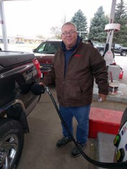 Marv Hooyer has been pumping gas at Co-op Gas and Oil Company in Sioux Center since 1977.