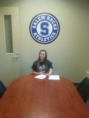 Salem senior Camille Burt recently signed to dive at