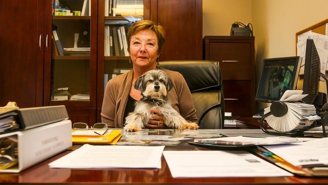 Christine Bauder with Lenny