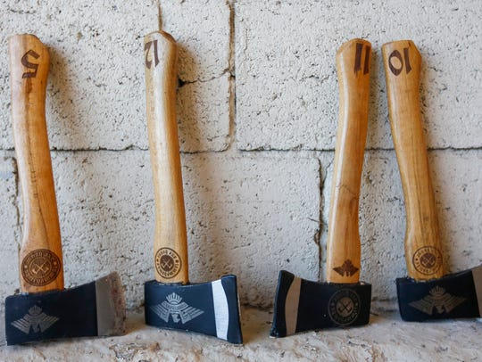 TommyHawks Axe House in Missouri builds custom tools specifically for ax-throwing.