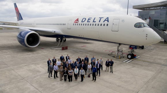 Delta is first U S  airline to take 'flagship' Airbus A350