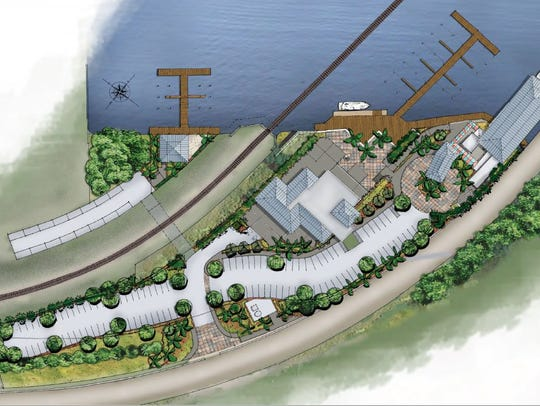 This rendering shows an aerial view of what developer