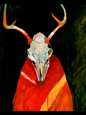Deer Spirit for Frank LaPena (1999) by Rick Bartow.