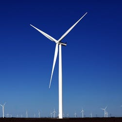 A wind farm in Taft, Texas.
