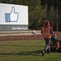 Facebook reported second-quarter financial results. File photo of Facebook headquarters in Menlo Park, Calif.