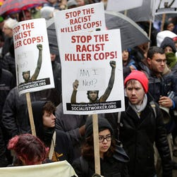 Protesters in Chicago on Nov. 27, 2015.