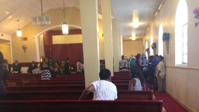 Yaz'Min Shancez was laid to rest Wednesday at the St. John Missionary Baptist Church.