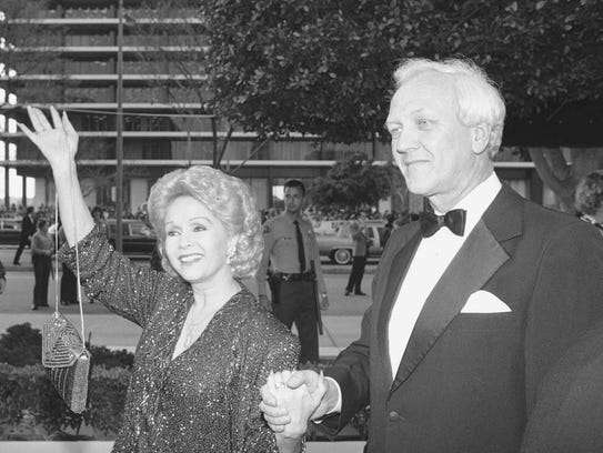 Debbie Reynolds and third husband Richard Hamlett at