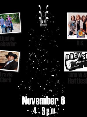 The Beat Goes on will be held from 4-9 p.m. Nov. 6 at Brewsky's in Hattiesburg.