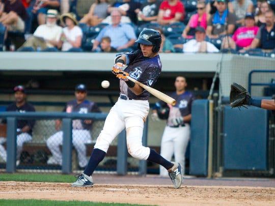 West Michigan Whitecaps outfielder Kody Clemens.