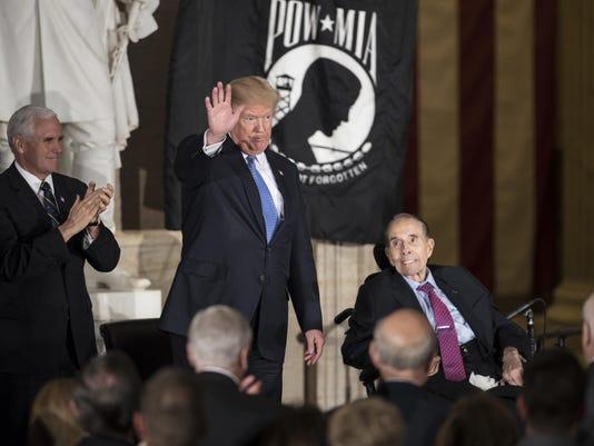 Bob Dole, Mike Pence, Donald Trump
