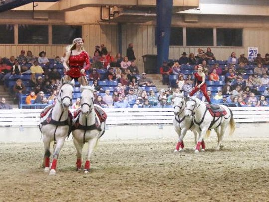 Jessica Fowlkes (front) will perform at the Lone Star Championship Rodeo on Jan. 19-20, 2018.