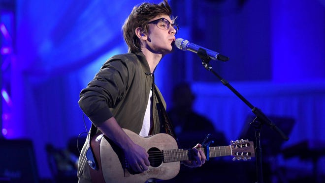 """Singer MacKenzie Bourg sings """"Say Something"""" as competition in the top 24 began Wednesday on 'American Idol."""""""