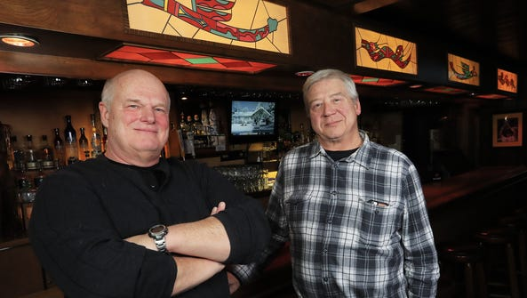 Owners Pat Beimborn, left, and Craig Galloway stand