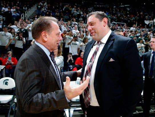 Southern Utah coach Todd Simon, right, a Fowler native,