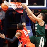 Michigan State's turnovers slow dominant night in 87-74 win vs. Illinois