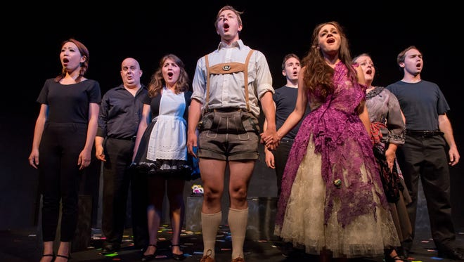 "The cast sings ""Make Our Garden Grow"" in Third Avenue Playhouse's production of ""Candide."""