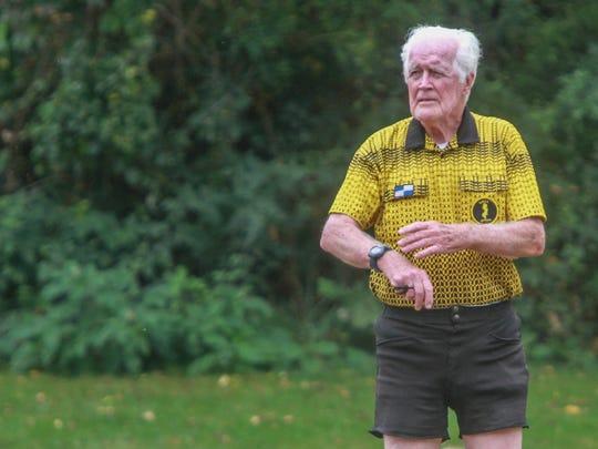 Manalapan, NJ    86 year old soccer referee Jim Grimes