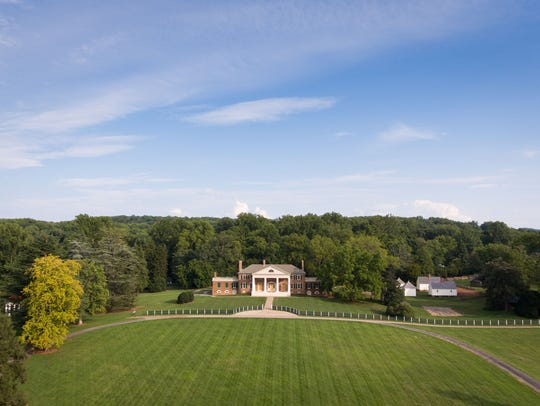 Montpelier, the home of President James Madison, the